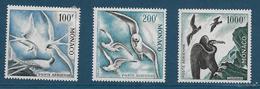 Timbres Neufs* De  Monaco, N°66 à 68 Yt, Poste Aérienne 1957 Oiseaux De Mer, Cormoran, Mouettes, Hirondelle , Charnière - Luftfahrt