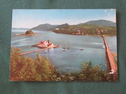 "Greece 1970 Postcard "" Corfu - Ulysses Island And Monastery "" To England - Lernean Hydra - Griekenland"
