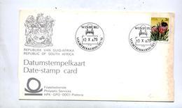 Carte Cachet Winburg Musee Chariot  Sur Fleur - Afrique Du Sud (1961-...)