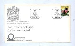 Carte Cachet Nuweland Ecole  Sur Fleur - Afrique Du Sud (1961-...)