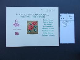 SALVADOR.BLOC.FLEURS.GERARDO BARRIOS.N** - El Salvador