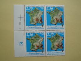 1990 France  Yv 2662 X 4 ** IGN  Carte De France  Cote 4.40 € Michel 2798 SG 3000  Map - France