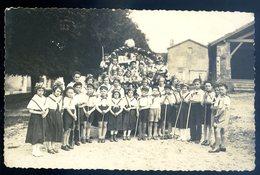 Cpa Carte Photo Du 86 Camp De Guides Et Scouts Du Village Anché -- Canton Lusignan Arrdt Montmorillon  MA2 - Lusignan