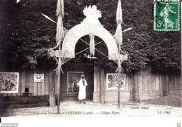 89.  Yonne : Auxerre : Exposition Nationale : Village Negre . - Auxerre