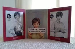 TRIPTYQUE PUBLICITAIRE Tissu BOUSSAC Festival Du Chemisier En Loveline Couture De Boussac - Mode Vêtement Porte Photo - Plaques En Carton