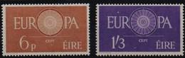 Ireland Irlande Eire CEPT Europa 1960  Yvertn° 146-147 *** MNH  Cote 50 Euro - 1949-... République D'Irlande