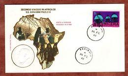Beleg Besuch Papst Paul, Gaskessel, Kaduna 1982 (72214) - Nigeria (1961-...)