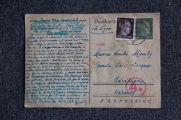 Carte Postale Envoyée D'un Camp De Prisonnier Allemand Le 1er Juillet 1944 Vers La France ( Entier Postal Et Timbre ) - Allemagne