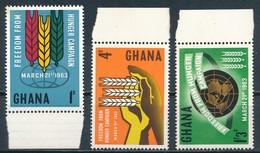 °°° GHANA - Y&T N°124/26 - 1963 MNH °°° - Ghana (1957-...)
