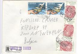 Enveloppe Aangetekend - Certificado - Einschreiben - Recommandé - Registered - Naar Antwerpen Van Murcia - 1931-Aujourd'hui: II. République - ....Juan Carlos I
