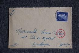 Timbre Sur Lettre Expédiée De VIENNE ( AUTRICHE)  Pour La FRANCE ( TOULOUSE ) , Zone Libre En 1943. - Allemagne