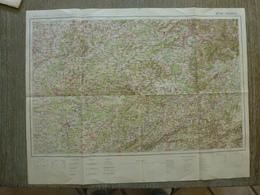 Carte Vesoul Haute Saone 70 Luxeuil Gray Lure Clerval Montbeliard - Cartes Topographiques