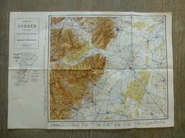 Carte Vosges Sélestat Ribeauvillé Neubois St Hippolyte Guémar - Cartes Topographiques