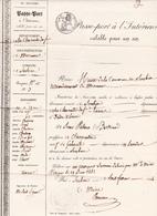 (17) SOUBISE Passe-Port à L' Intérieur 8 Février 1844 De Sieur PATEAU Bertrand Document De Mairie (3 Scans) - Documentos Históricos