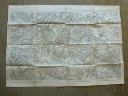 Carte Montdidier 80 Somme Halliviller Folleville Morisel Mézières Faverolles - Cartes Topographiques