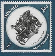 Timbres Neufs* De  Monaco, N°91 Yt, Poste Aérienne 1967 Grand Prix Automobile, Panhard-phénix 1895, Charnière Au Dos - Poste Aérienne