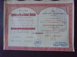 SYRIE - CDF DE DAMAS A HAMAH - ACTION DE 3 000 FRS - PARIS - Shareholdings