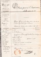 (46) De CAHORS à AGEN (Passe-Port à L' Intérieur 26 Février 1842 De PIERRE (Enfant Naturel) Document De Mairie (3 Scans) - Documentos Históricos