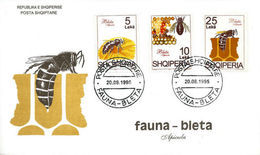 Albanian Stamps 1995. Fauna: Bee; Apicula. FDC Set Mich. 2558-2560 - Albania