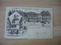Carte Paris Gravure Souvenir - France