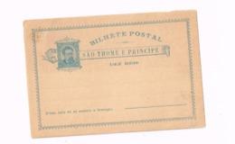 Entier Postal à 10 REis. - St. Thomas & Prince