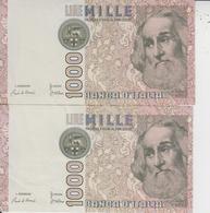 1000 LIRE  -  LOT DE 3 BILLETS  - - [ 2] 1946-… : Républic