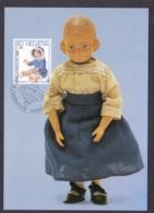 1.- SWITZERLAND 1986 MAXIMUM CARDS TOYS PUPPET DOLL - Poupées
