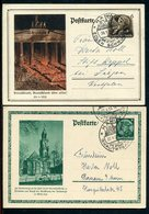 Deutsches Reich / 1933 Ff. / Postkarten Mi. P 248 Und P 250 Je So-Stempel Hanau (12103) - Germania