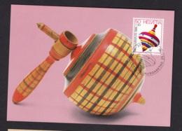 1.- SWITZERLAND 1986 MAXIMUM CARD PEG-TOP TOYS - Autres