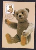 2.- SWITZERLAND 1986 MAXIMUM CARD TEDDYBAR TOYS - Autres