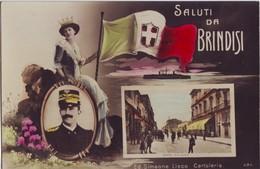 BRINDISI - SALUTI DA... C.SO GARIBALDI- NON VIAGGIATA  ANNI '20 - Brindisi