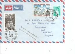 Saint-Pierre Et Miquelon ( Lettre Par Avion De 1979 De Saint-Pierre Vers La Grande-Bretagne à Voir) - Covers & Documents