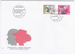 Switzerland Swiss Schweiz Svizzera Helvetia 1989 FDC MESTIERI - FDC