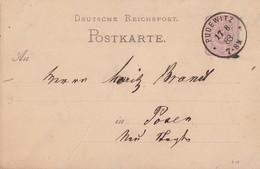 DR Ganzsache K1 Pudewitz 17.8.83 - Deutschland