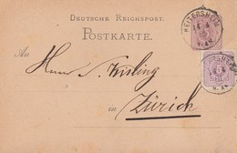 DR Ganzsache Zfr. Minr.40 K1 Heitersheim 14.4.81 Gel. In Schweiz - Deutschland