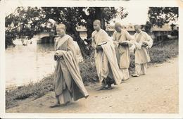 CPA-PHOTO-Vers 1930-BOUDDHISME-JEUNES BONZES-TBE - Bouddhisme