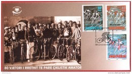 Albania Stamps 2005. The 80th Anniversary Of Cycling. FIRST CYCLISTIC CYRCLE. FDC Set MNH - Albania