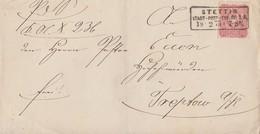DR Brief EF Minr.33 R3 Stettin Stadt-Post-Exp. Nr.1.A 18.2.75 Gel. Nach K2 Treptow A. D. Rega - Briefe U. Dokumente