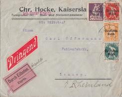 DR Brief Eilbote Mif Minr.120,122,125,126 Kaiserslautern - Briefe U. Dokumente
