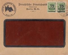 DR Brief Mef Minr.2x 286 Berlin 25.9.23 - Briefe U. Dokumente