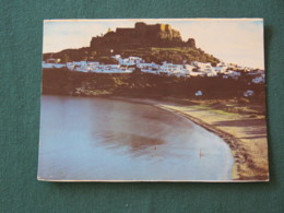 "Greece 1984 Postcard "" Lindos - Beach With Acropolis On Background "" To England - Railway Bridge - Grèce"