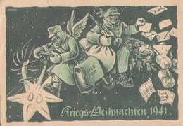 DR Weihnachtskarte Feldpost Kriegs-Weihnachten 1941 Gelaufen - Briefe U. Dokumente