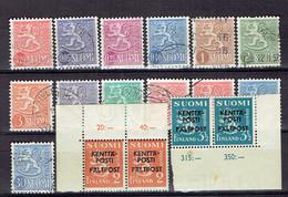 P 204 - Set Suomi-Finlande All Different - Finlande