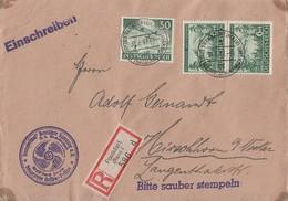 DR R-Brief Mif Minr.840,2x 855 Frankfurt 31.8.43 - Briefe U. Dokumente
