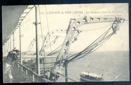Cpa Du 17  L' Escadre Du Nord à Royan Les Haubans à Bord Du Masséna Au Dos Cachet Service De Santé Place De Royan    MA2 - Royan