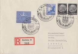 DR R-Brief Mif Minr.2x 512,531,698 SST Hamburg 25.6.39 - Briefe U. Dokumente