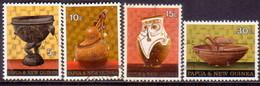 PAPUA NEW GUINEA 1970 SG #187-90 Compl.set Used Native Artefacts - Papua Nuova Guinea