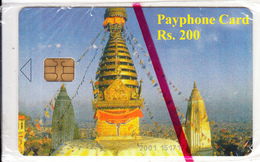 NEPAL -  Temple(CN At Bottom), Nepal Telecom Telecard, First Issue RS 200, Mint - Nepal