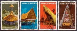 PAPUA NEW GUINEA 1971 SG #191-94 Compl.set Used Native Dwellings - Papua New Guinea