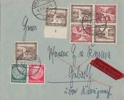 DR Brief Eilbote Mif Minr.2x 634,Zdr. Minr.W62, 2x K30 Bad Kreuznach 6.2.37 - Briefe U. Dokumente